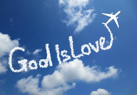 alabando a dios: Dios es amor Foto de archivo