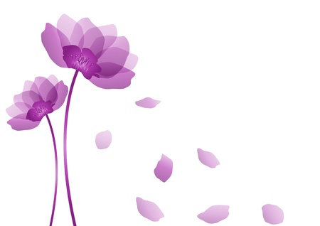 Purple flower Ilustração
