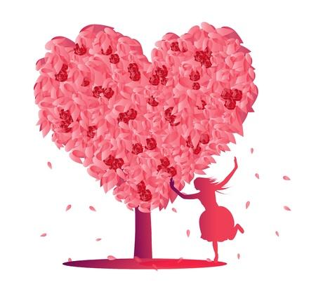 celebrate life: Heart tree illustration Illustration