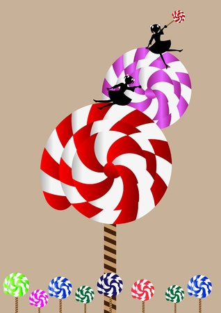 Lollipop tree Stock Vector - 19682092