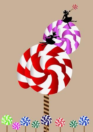 Lollipop tree Stock Vector - 19682092