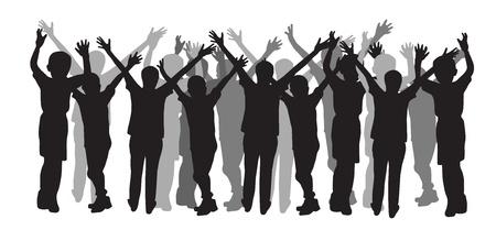 alabanza: Silueta de personas