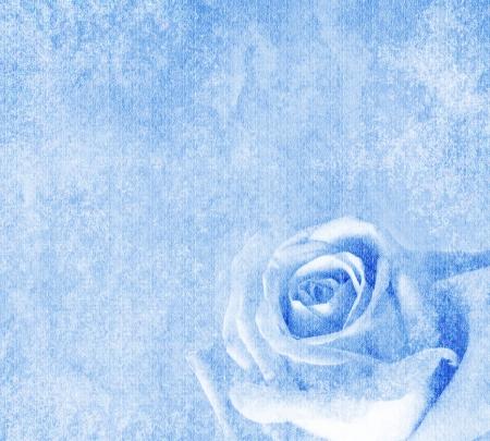blue roses: Vintage floral background