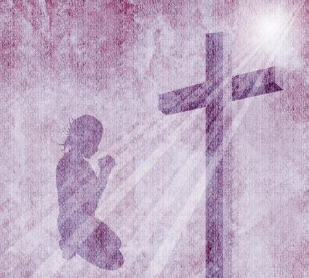 Kreuz auf Vintage-Hintergrund Standard-Bild - 21483572