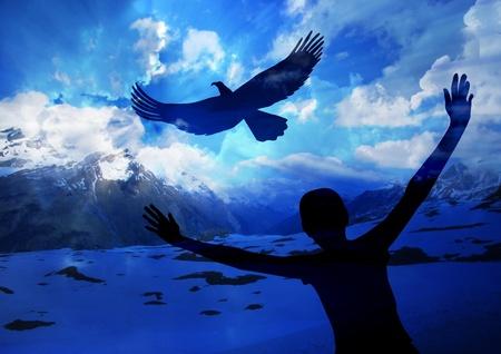 aigle: Mont�e comme un aigle