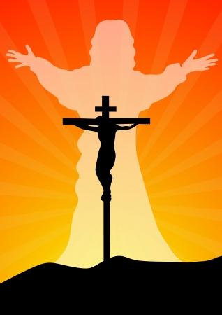 messiah: Resurrezione di Ges� Cristo vettore Vettoriali