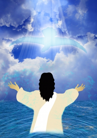 jesus clouds: Baptism of Jesus