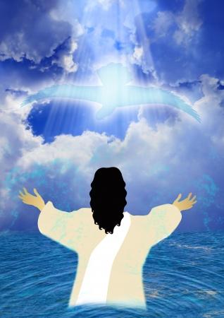 Doop van Jezus Stockfoto