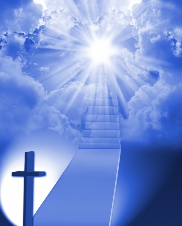jesus in heaven: Staircase to heaven
