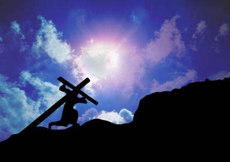 Jezus Christus Carrying Kruis