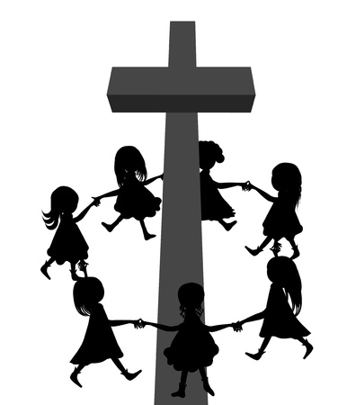 Circle Around Cross Illustration