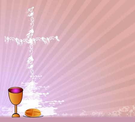 fruit of the spirit: Holy Communion Illustration
