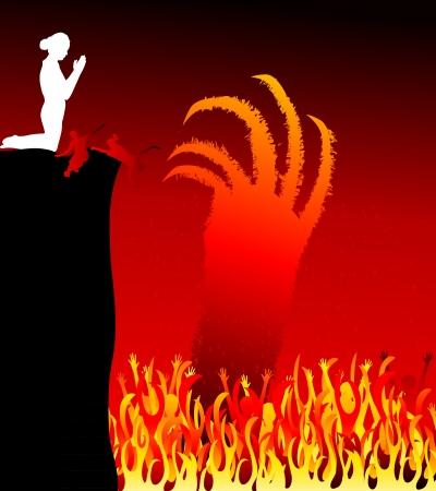 Hell-Feuersee Standard-Bild - 21483650