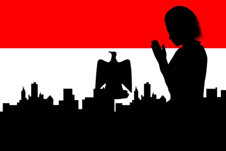 bandera de egipto: Oren por Egipto