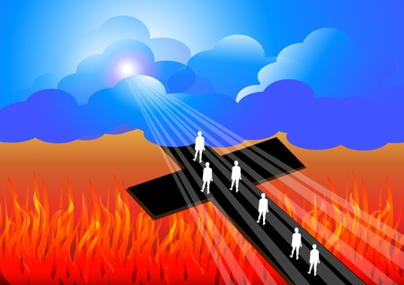 Road to salvation Vector