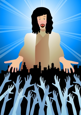 Jesus reaching out Vector