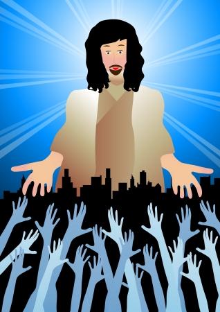 kingdom of god: Jesus reaching out