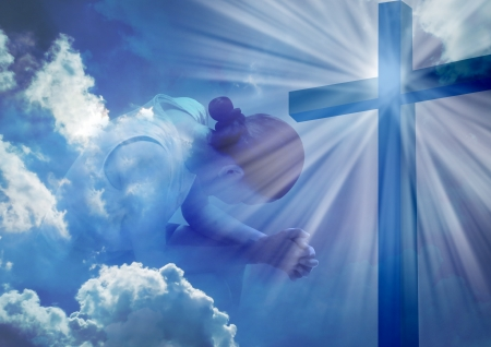 Eine Frau betet Standard-Bild - 21811737