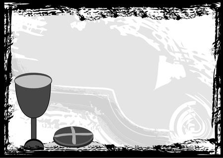 holy communion: La Santa Comuni�n fondo de la invitaci�n Vectores