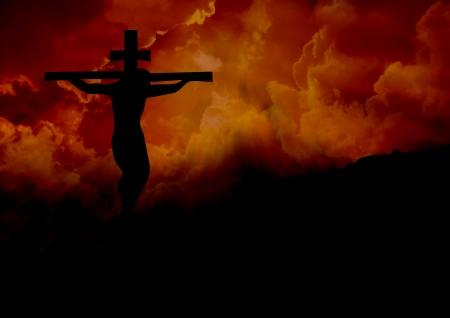 viernes santo: Jesucristo en una cruz