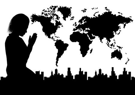 paz mundial: La paz del mundo Vectores