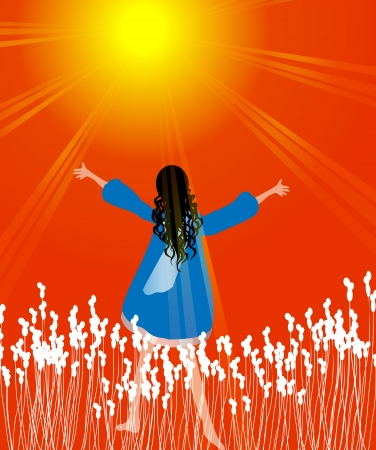 worshiping: Woman in praise