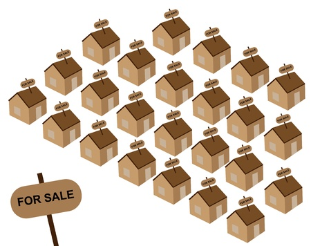 Houses for sale Stock Vector - 22022983