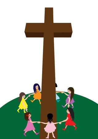 Kinderen met Cross