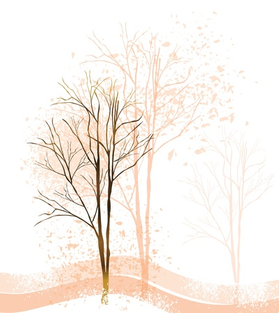 Grunge tree background Vector