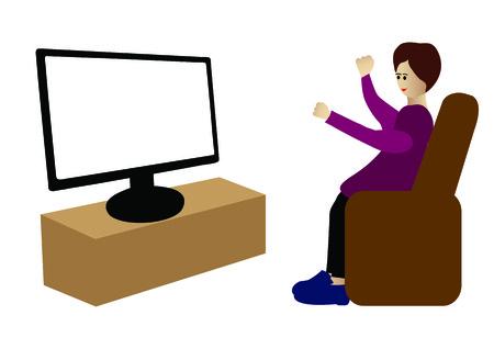 Watching tv Stock Vector - 22698259