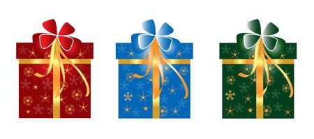Christmas gift box with snowflake
