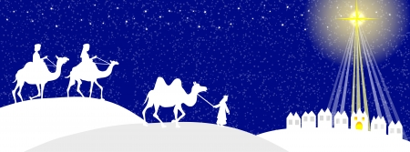 three month: Wisemen silhouette Illustration