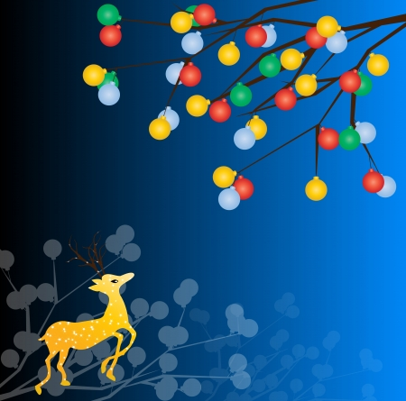 bolls: Christmas deer Illustration