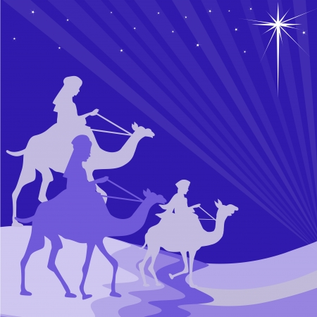 magi: Wisemen silhouette Illustration