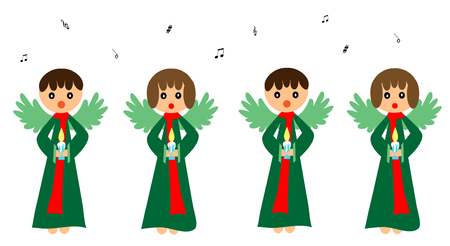 christmas carols: Singing angels