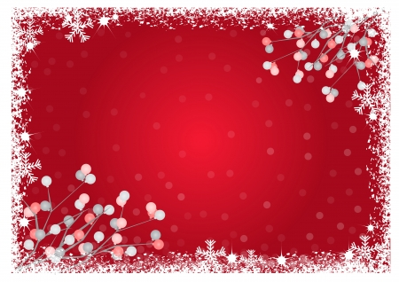 elebration: Christmas background with balls and snowflakes