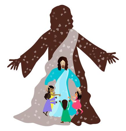 Jesús ama a los niños pequeños Foto de archivo - 23468917
