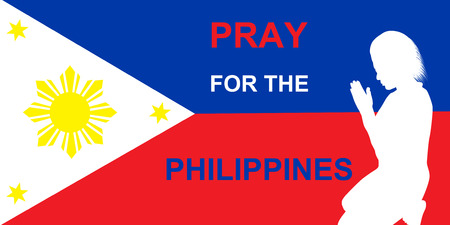 Pray for the Philippines Imagens