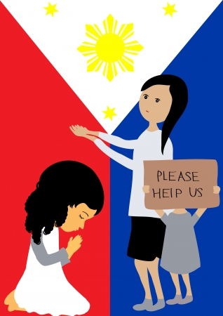 pray for: Pray for the Philippines Illustration