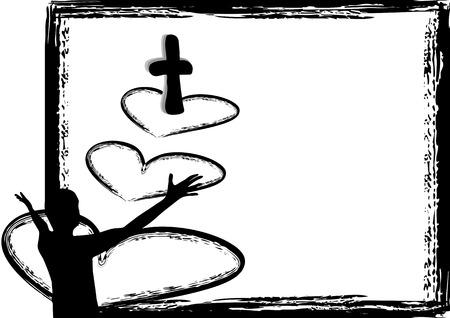 Jésus est amour Banque d'images - 24084695