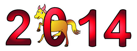 New Year 2014 - Year of the Horse Stock Vector - 24159126