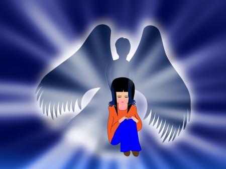 angels in heaven: My angel Stock Photo