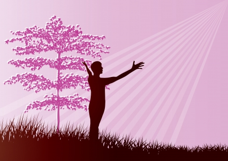 Worship silhouette Illustration