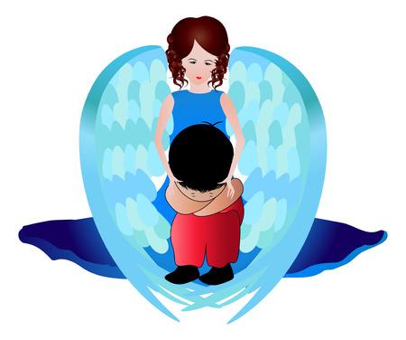 safe world:  My angel Illustration