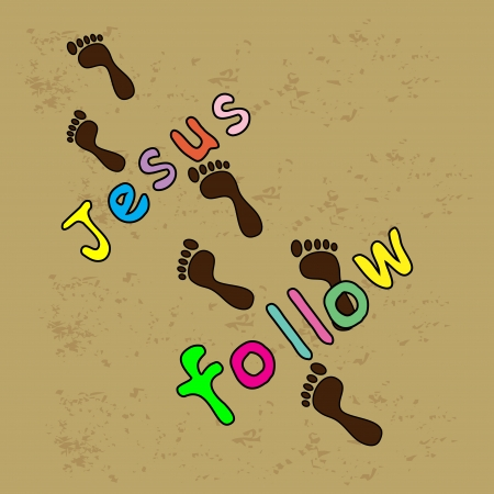 Follow Jesus  イラスト・ベクター素材