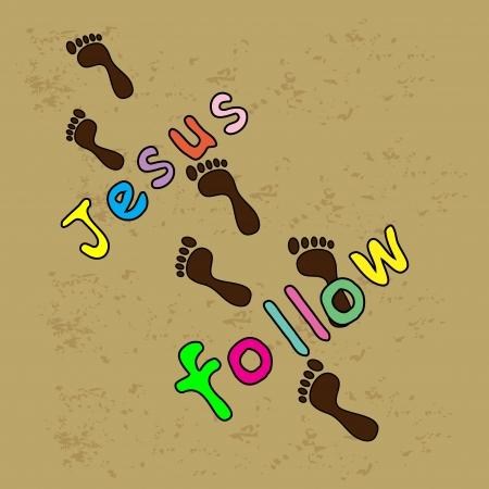 Jezus volgen Vector Illustratie