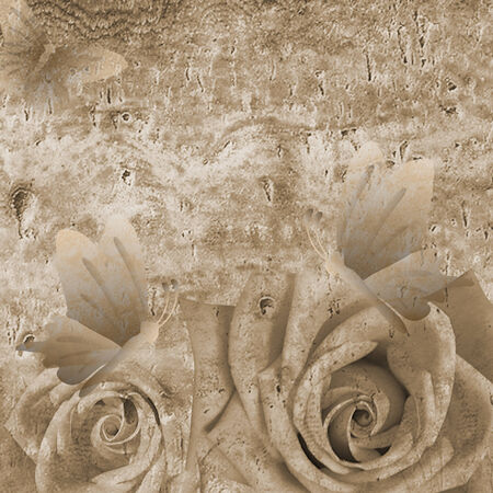 Romantic background with roses photo