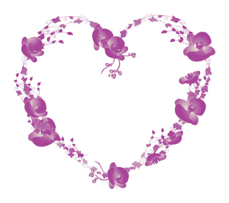 Orchid Heart Vector