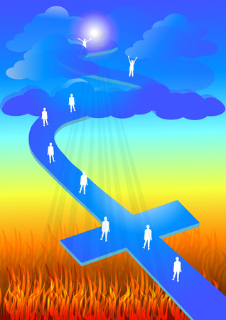 salvation: Road to salvation Illustration