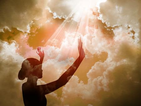alabando a dios: �Alabado sea el Se�or Foto de archivo